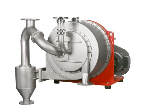 TURBOCASCADE sliding centrifuge with cyclone