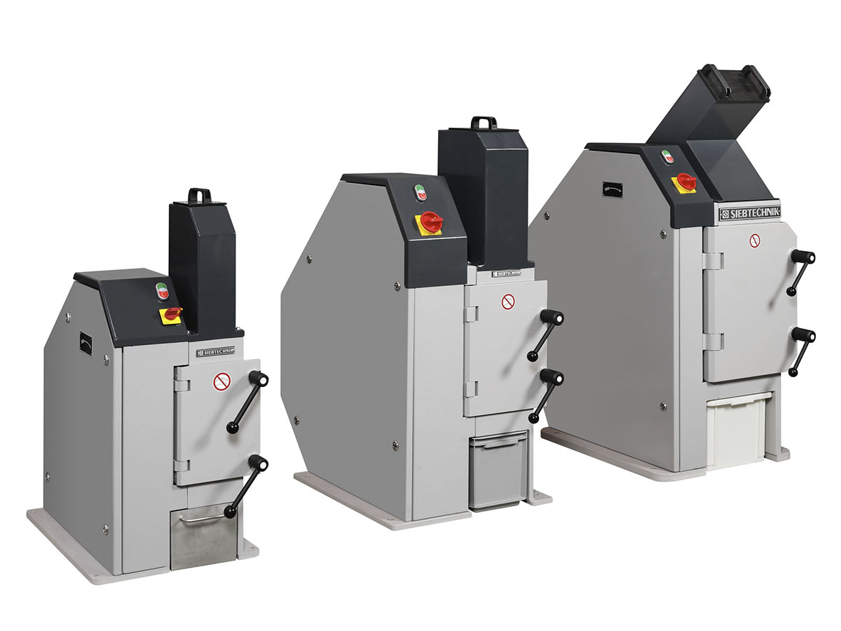 Jaw crushers model EB 100 x 80-L, EB 150 x 100-L and EB 200 x 125-L - size comparison