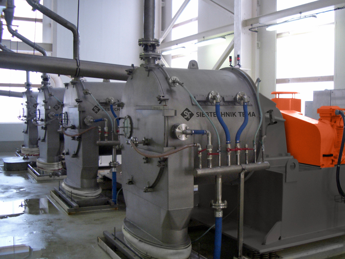 Pusher centrifuge SHS for potassium chloride