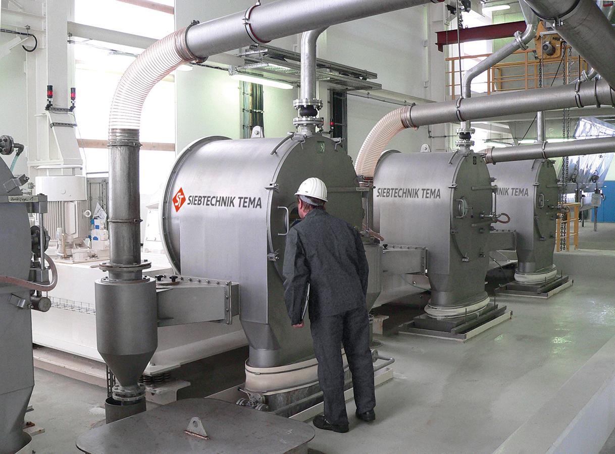 SHS pusher centrifuge in fertilizer production