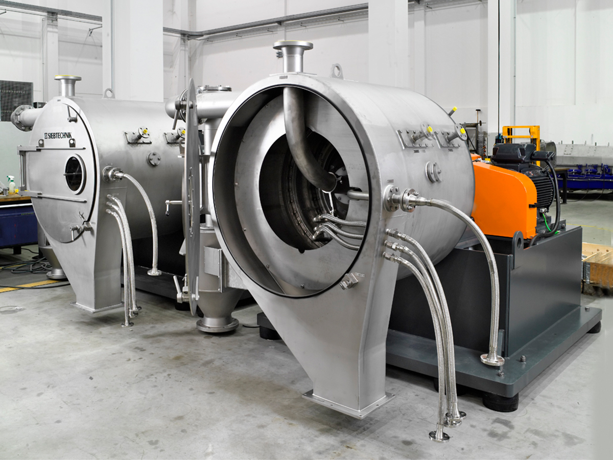 Manufacturing of a pusher centrifuge SHS for lithium hydroxide monohydrate