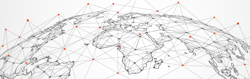 globe countries connected with each other